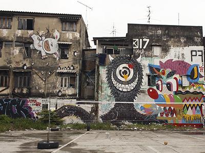 Locations in Thailand: Street art